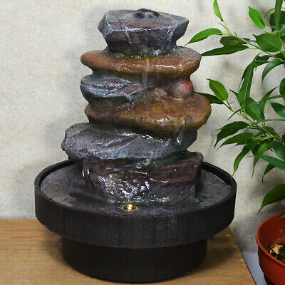 Stone Tower Water Fountain With Light Perfect Indoor Water Feature
