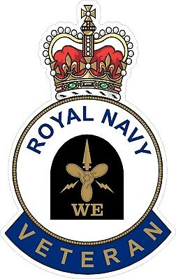 Royal Navy Weapons Engineer Veteran Sticker Uk - Cars - Vans - Laptops