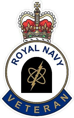 Royal Navy Electronic Warfare Veteran Sticker Uk - Cars - Vans - Laptops
