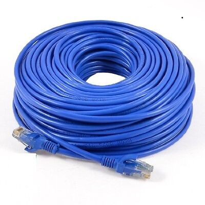 50M Cat5E Rj45 Ethernet Network Lan Cable Patch Lead Router Modem Fast Internet