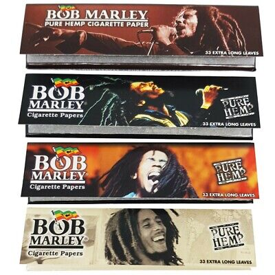 Bob Marley King Size Slim Pure Hemp Rolling Papers Skins Pack Sizes -  FREE POST