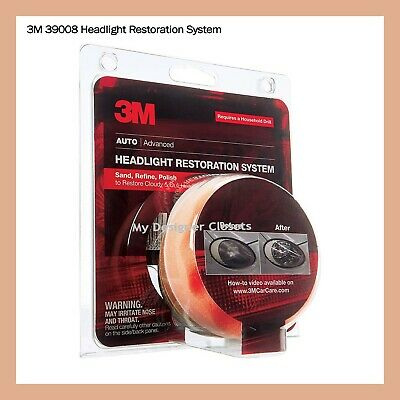 3M 39008 Headlight Lens Restoration System Kit MDC