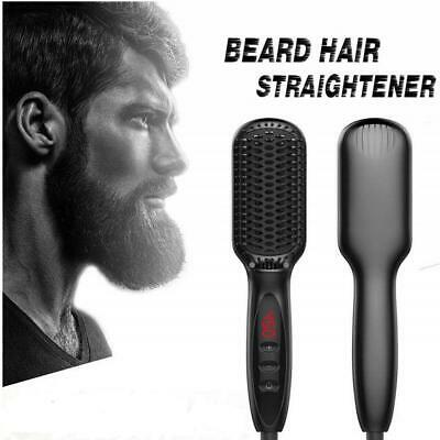 Quick Beard Straightener Men Electric Hair Straightening Brush Ceramic Comb