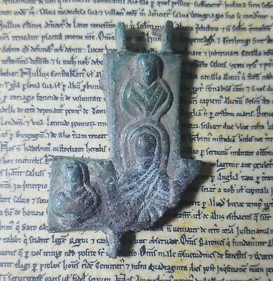 SHABTISHOP -Late Roman / Byzantine Bronze Reliquary Cross Fragment, with Christ