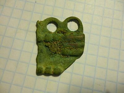 Fragment of the protection item Bronze Age Koban culture 13-4 centuries BC rare