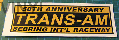 Historic Trans Am 50Th Anniversary Vinyl Decal Sticker - Vintage Scca - Sebring.
