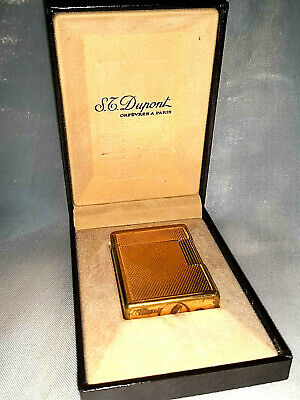 💎Accendino Lighter St Dupont Small France Paris Gold Plated Vintage Epoca Old💎