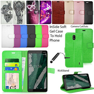 For Nokia 1 Plus TA-1130 Phone Case Wallet Leather Cover Flip Book +Touch Stylus