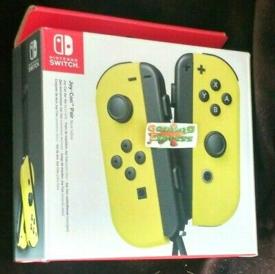 Official Nintendo Switch Joy-Con Controller Pair YELLOW NEW SEALED Free UK p&p