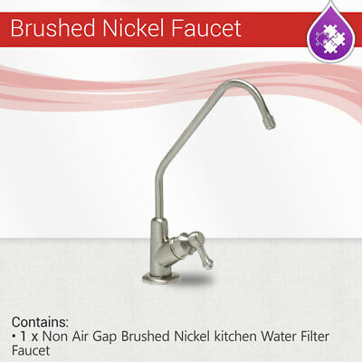 Max Water RO Non Air Gap Brushed Nickel Finished kitchen Water Filter Faucet