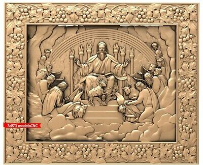 "3D STL CNC Model ""Apostles before the Lord"" file for CNC Router (Artcam Aspire)"