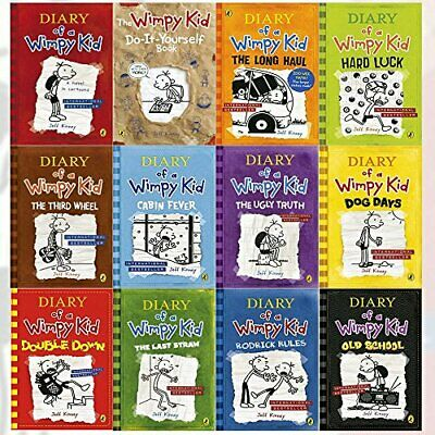 Diary of a Wimpy Kid Series Collection 12 Books Set By Jeff Kinney   Jeff Kinney