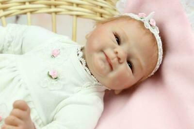 "18"" Reborn Baby Dolls Boy Handmade Lifelike Newborn Dolls Looks Real"