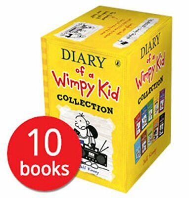 Diary of a Wimpy Kid Collection (Set of 10) Book   Jeff Kinney Paperback NEW