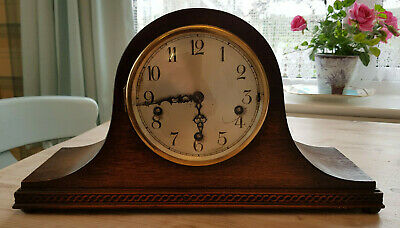 Antique Napoleon Hat Winchester Chime Mantle Clock, chimes on quarter of the hou