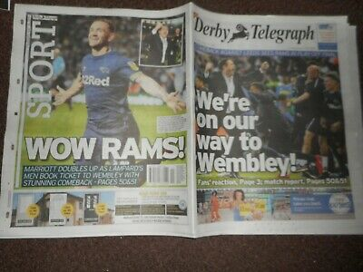LEEDS UNITED  v  DERBY COUNTY  2018/19 POSF DERBY TELEGRAPH inc. REPORT & PHOTOS