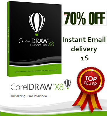 CorelDRAW X8 GRAPHICS SUITE 2018 ✅LIFETIME LICENSE KEY🔑INSTANT DELIVERY 1S ⚡️⚡️
