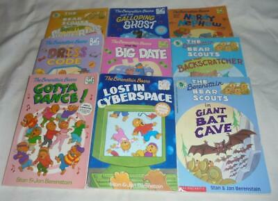 HUGE set of 9 The Berenstain Bears BIG chapter books