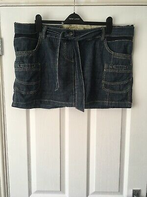Next Maternity Denim Style Mini Skirt, Size 20