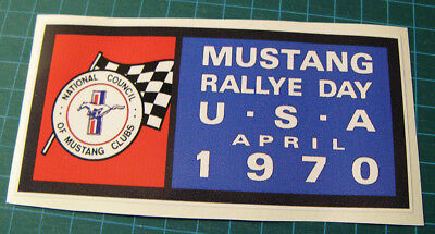 Vintage Style Mustang Rallye Day Vinyl Decal Sticker - Usa  April 1970 - Club.