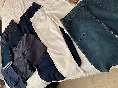Bundle of SUMMER maternity clothes - shorts, trousers & skirt (small/medium)