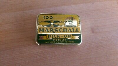Gramophone needle tin Marshall empty