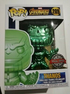 Funko POP ! Thanos  Green Chrome - #289 Infinity War - Avengers  - Marvel