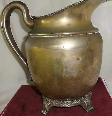 Antique Silver on Copper  Pitcher Marked Silver on Copper in a Shield