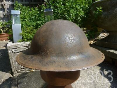 WWI British Army Military Steel Brodie Helmet Marked FS 150