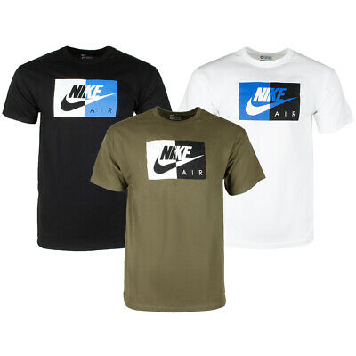 4f743a0d7 Nike Air Men's Short Sleeve Color Blocked Logo Athletic Graphic T-Shirt