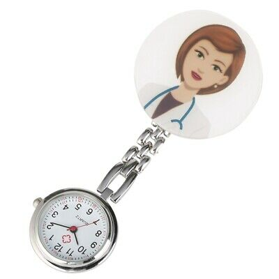 Hot Sale Round Dial Clip On Hanging Pendant Analog Quartz Pocket Watch for Girls