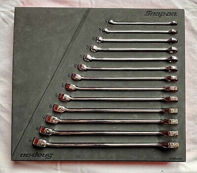 Snap-On, Flank Drive Plus, Combination 13 Spanner Set, 7Mm - 19Mm,  Soexm01Fmbr