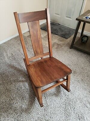 rare antique sewing rocking chair