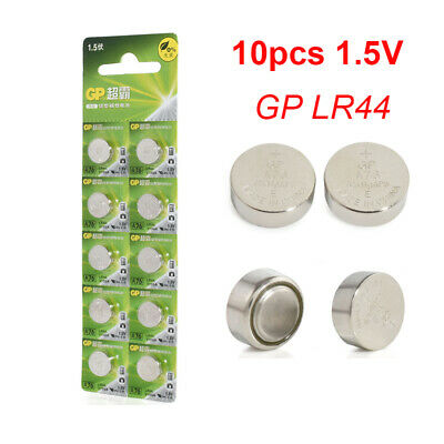 Hot 10pcs 1.5V GP LR44 AG13 A76 SR66 Button Cell Coin Battery Batteries