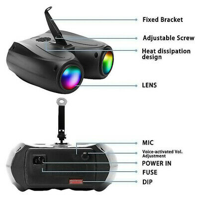 20W RGBW 128LED Double Head Airship Projector Lamp Laser Stage Effect Light 2019