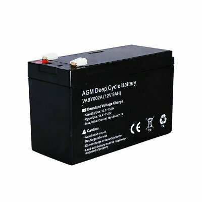 BRAND NEW 12V 9AH AGM Deep Cycle Battery Solar Power 4X4 Fully Compact warranty