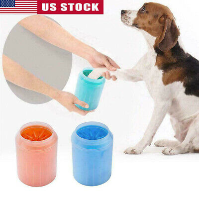 Dog Paw Cleaner Portable Pet Cleaning Brush Cup Dog Foot Cleaner Dog Feet Washer