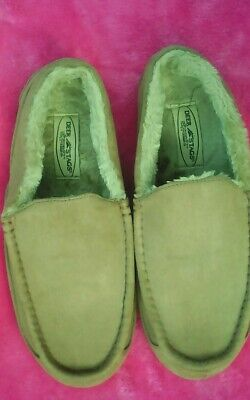 3a7d550de0f2 Deer stag mens slippers size 9M faux fur lined slipperooz supro sock