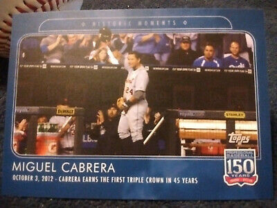 2019 Topps 150 Years Of Baseball HISTORIC MOMENTS Miguel Cabrera Triple Crown