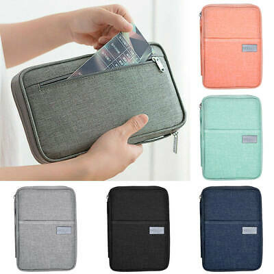 Family Travel Organizer Passport Document Holder RFID Cards Tickets Wallet Pouch