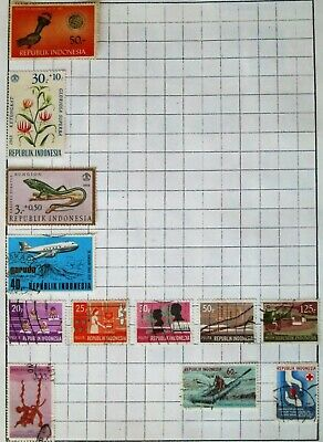 Indonesia Vintage stamps Used Hinged from 1960's Onwards