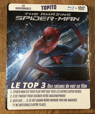 The Amazing Spider-Man Blu-Ray HD STEELBOOK + Dvd NEUF