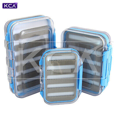 Waterproof Double-Sided Fly Box, Clear Lid, Large/Medium/Small