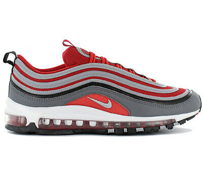on sale e486c b2244 Nike Air Max 97 Homme Premium Baskets 921826-007 Gris-Rouge Chaussures Neuf