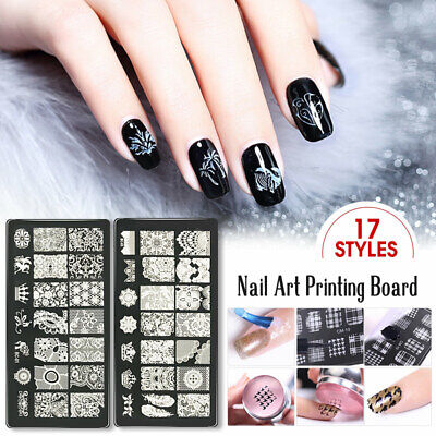 Saviland Manicure Nail Stamping Plates Stainless Steel Nail Art Stamp Templates