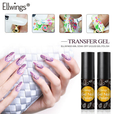 Ellwings Nail Foil Adhesive Glue for Starry Sky Sticker Transfer Nail Glue UV