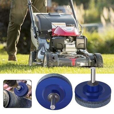 1X Universal Lawn Mower Faster Blade Sharpener Grinding Power Drill Garden-Tools