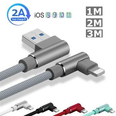 1~3M Data Sync Cable USB 2A High-speed Charging Adapter Lead For iPhone 8 X Plus