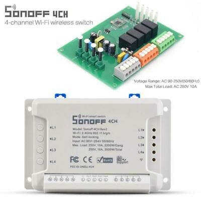 NEUE 1/2/4 CH Sonoff Smart Timer Wireless Switch-Modul WiFi für