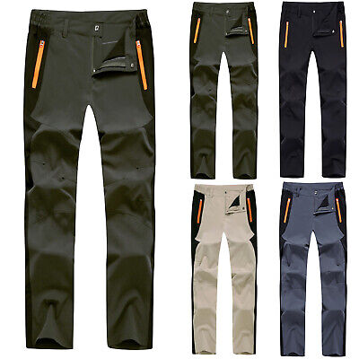 Men's Climbing Hiking Straight Tactical Trouser Waterproof Softshell Bottom Pant